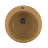 Мойкa ML-GM13 круглая, песочная (302), 495мм (глуб. чаши 190)
