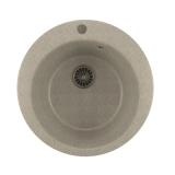 Мойкa ML-GM13 круглая, серая (310), 495мм (глуб. чаши 190)
