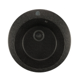 Мойкa ML-GM13 круглая, черная (308), 495мм (глуб. чаши 190)