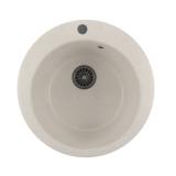 Мойкa ML-GM13 круглая, белая (331), 495мм (глуб. чаши 190)