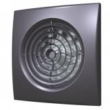AURA 5C dark gray metal, Вентилятор осевой вытяжной с обратным клапаном D 125, декоративный