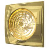 AURA 4C Gold, Вентилятор осевой вытяжной с обратным клапаном D 100, декоративный