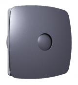 RIO 4C Dark gray metal, Вентилятор осевой вытяж, обрат клапан D 98, декоративный