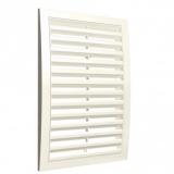 Решетка вентиляционная с наклонными фиксированными жалюзи АБС 200х200 Ivory