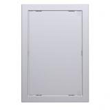 Л1515 gray metal, Люк-дверца ревизионная 168х168 с фланцем 146х146 ABS, декоративный