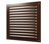 Решетка вентиляционная вытяжная стальная 125х125 коричневая